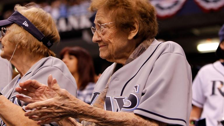 One of the Rays' oldest fans