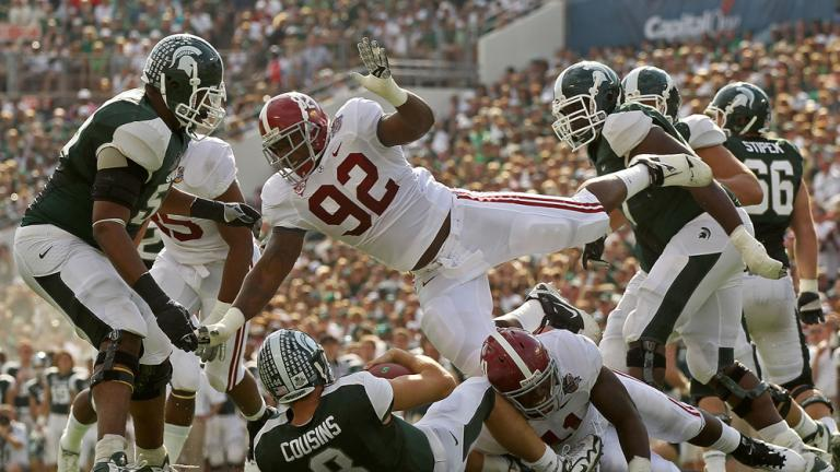 Capital One: No. 15 Alabama 49, No. 7 Michigan State 7