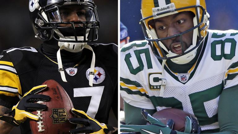 <b>Receiver/tight end<br>Pittsburgh:</b> Mike Wallace<br><b>Gren Bay:</b> Greg Jennings