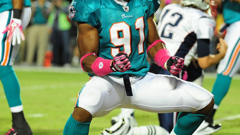 Outside Linebacker: Cameron Wake, Dolphins