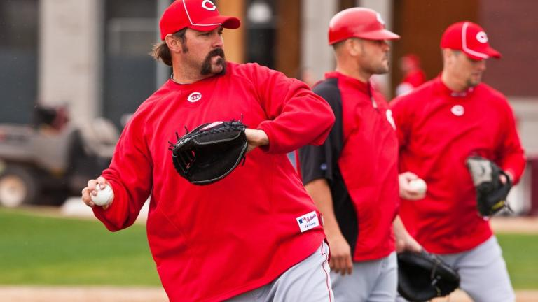 Corky Miller, non-roster invitee catcher with Reds