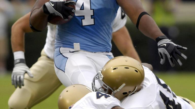 No. 22 North Carolina 29, Notre Dame 24