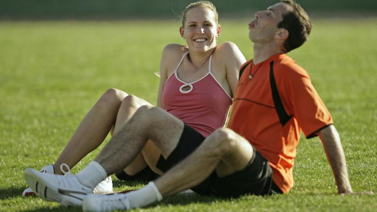 Nicole Vaidisova and Radek Stepanek