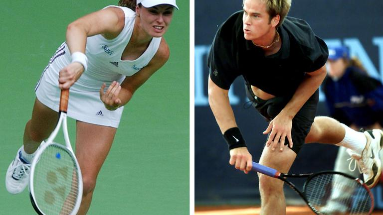 Martina Hingis and Magnus Norman