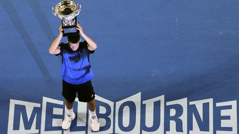 Jan. 27: Djokovic claims his first Slam title