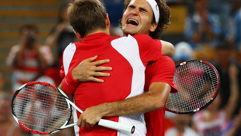 Aug. 16: Wawrinka and Federer win gold in doubles