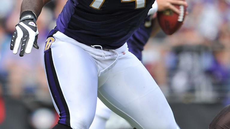 No. 1: Michael Oher,<br>Ravens right tackle