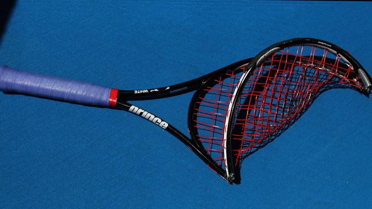 Taking it out on the racket