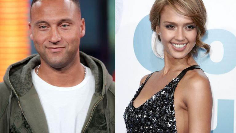 Derek Jeter and Jessica Alba