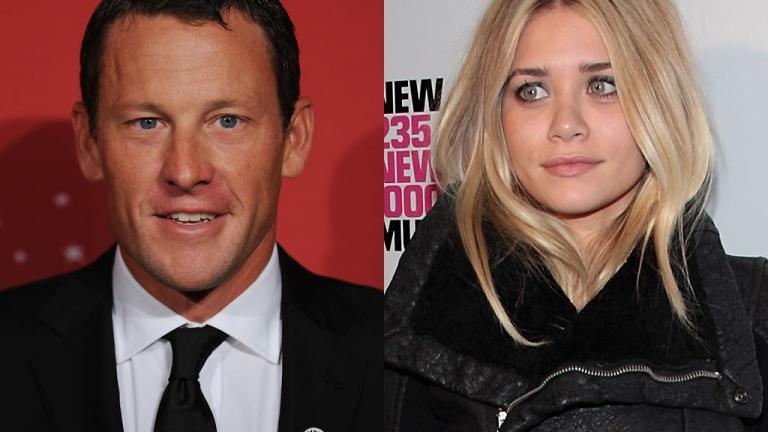 Lance Armstrong and Ashely Olsen