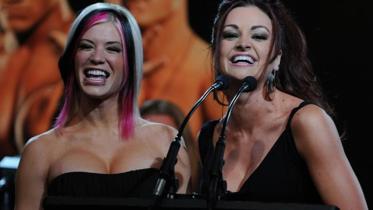 Ashley Massaro, April 2007; Maria Kanellis, April, 2008