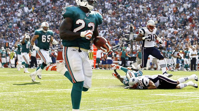 MOST SHOCKING GAME<br/> Sept. 21: Dolphins 38, Patriots 13