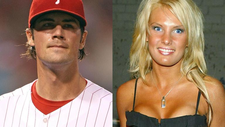 Cole Hamels and Heidi Strobel