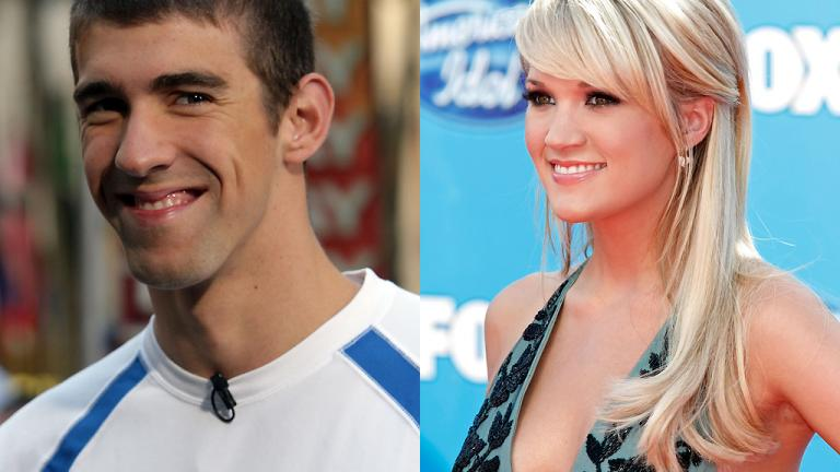 Michael Phelps and Carrie Underwood