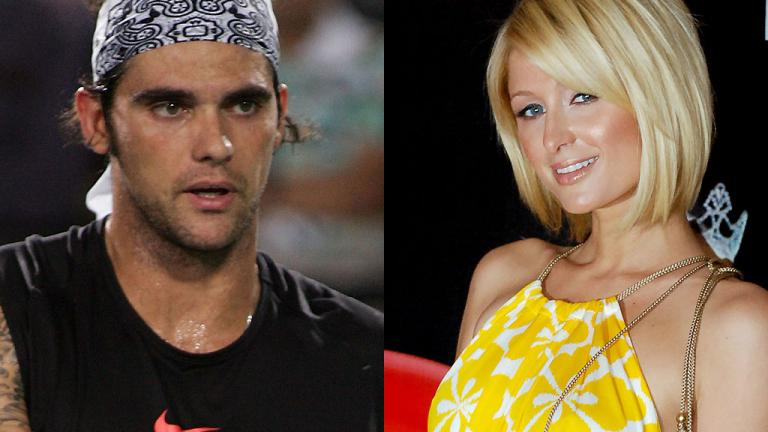 Mark Philippoussis and Paris Hilton