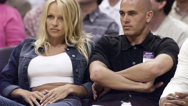 Kelly Slater and Pam Anderson