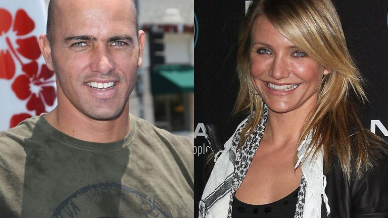 Kelly Slater and Cameron Diaz