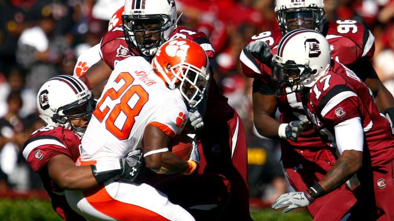 South Carolina 34, No. 15 Clemson 17