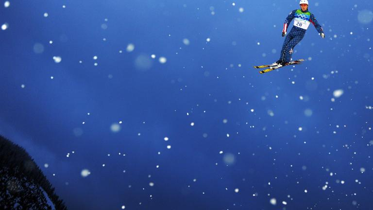 Floating with the flakes