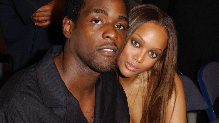 Tyra Banks and Chris Webber