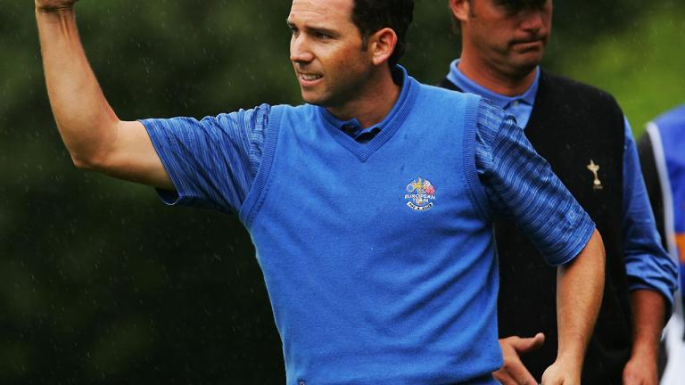 Best point percentage (minimum of three Ryder Cup matches)