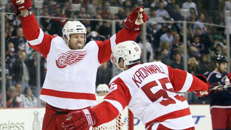 Game 4: Red Wings 6, Blue Jackets 5