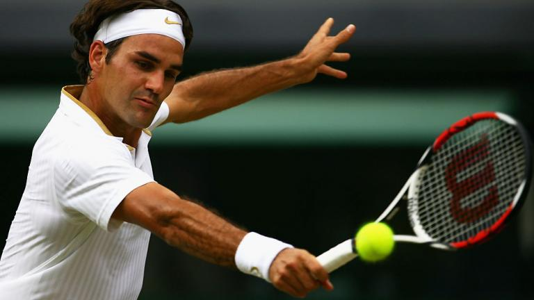 By the backhand
