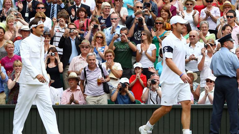 Arriving on court