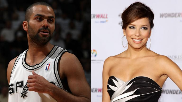 2. Tony Parker and Eva Longoria-Parker
