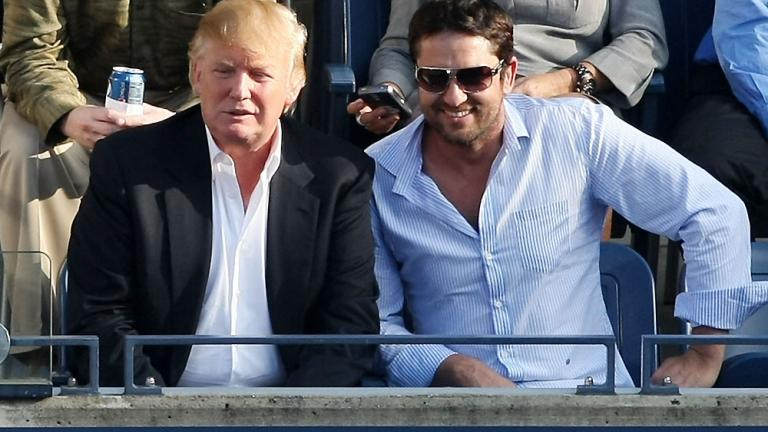 Donald Trump and Gerard Butler