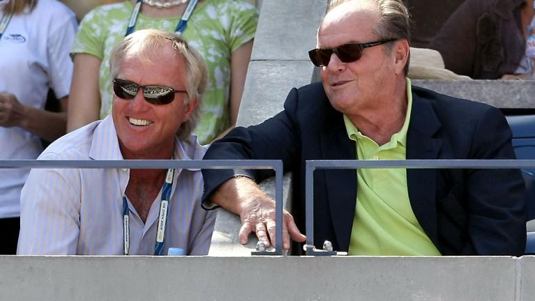 Greg Norman and Jack Nicholson