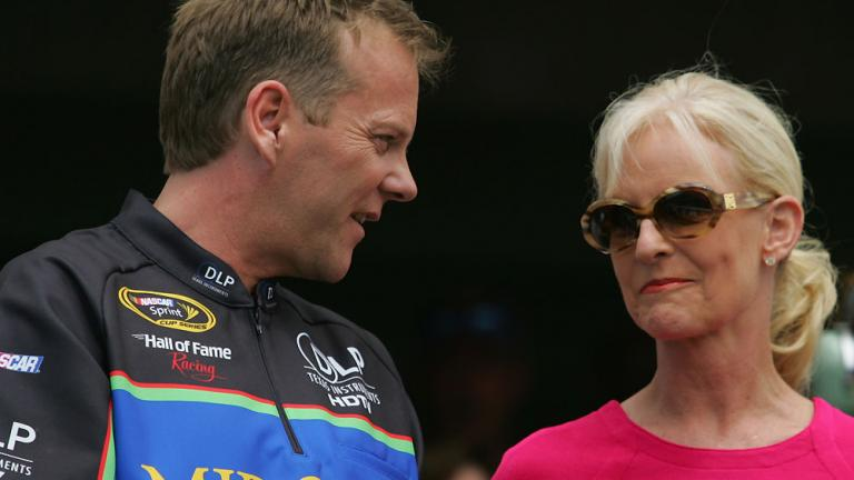 Kiefer Sutherland and Cindy McCain