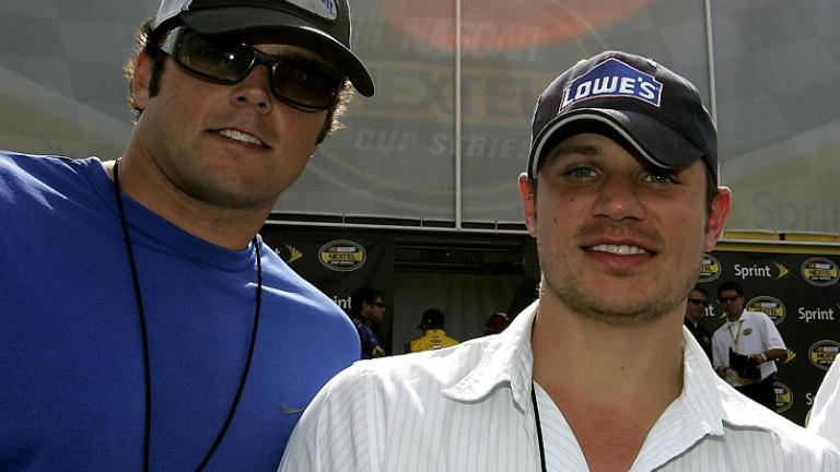 Kyle Boller and Nick Lachey