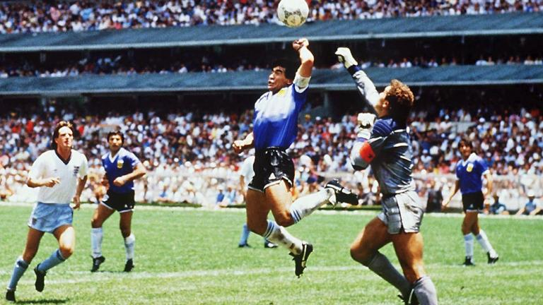 "1986: Diego Maradona's ""Hand of God"" goal"