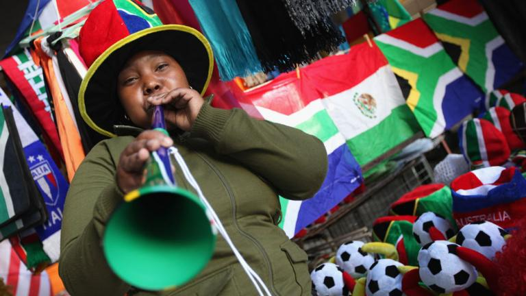 """<div align=""""center""""><span style=""""font-size: 18pt;"""">The Vuvuzela boosts local economy</span>"""