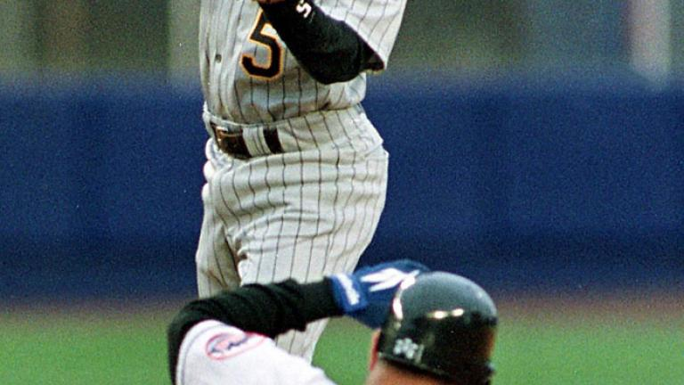 """<div align=""""center""""><span style=""""font-size: 18pt;"""">Tony Womack<br> Pittsburgh Pirates<br> 1997</div></span>"""