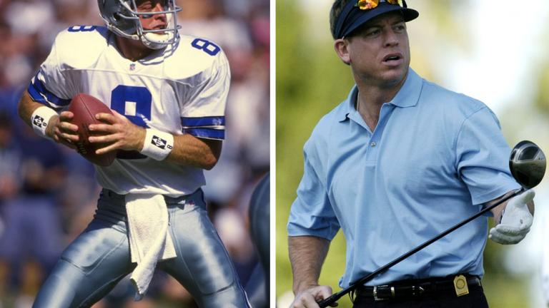 "<div align=""center""><span style=""font-size: 16pt;"">Troy Aikman</span> <br/> <span style=""font-size: 13pt;"">NFL Hall of Fame Quarterback</span></div>"
