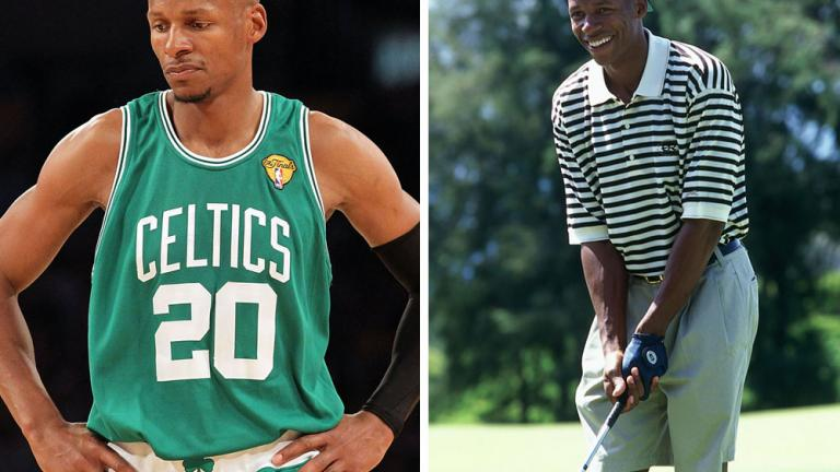 "<div align=""center""><span style=""font-size: 16pt;"">Ray Allen</span> <br/> <span style=""font-size: 13pt;"">NBA All-Star: Boston Celtics</span></div>"