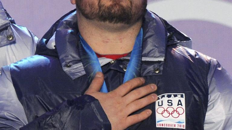 "<div align=""center""><span style=""font-size: 16pt;"">Steve Holcomb</span> <br/> <span style=""font-size: 13pt;"">2010 US Olympic Gold Medalist: 4-Man Bobsled</span></div>"