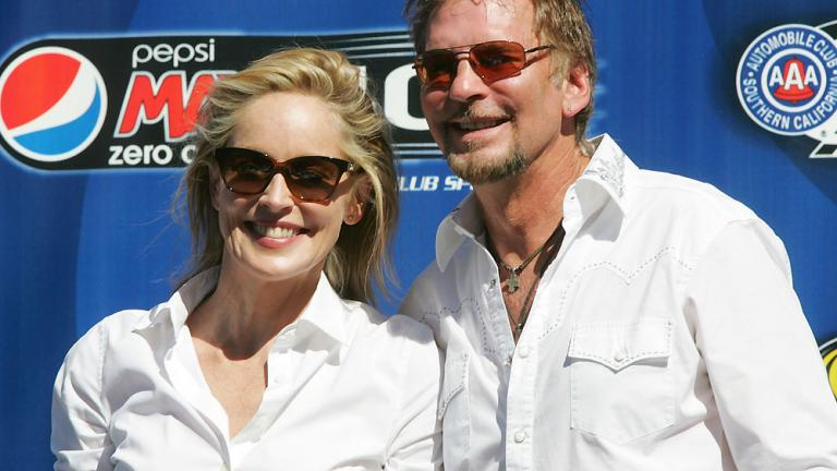 Sharon Stone and Kenny Loggins