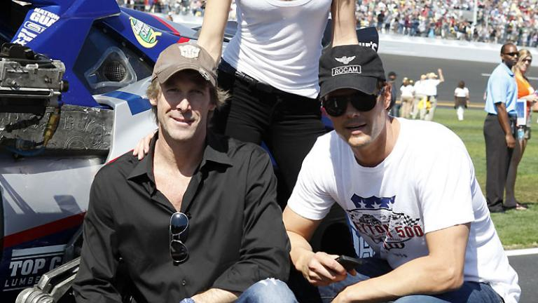 Michael Bay, Rosie Huntington-Whiteley and Josh Duhamel
