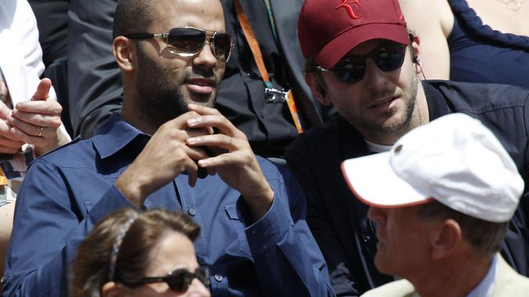 Tony Parker and Bradley Cooper