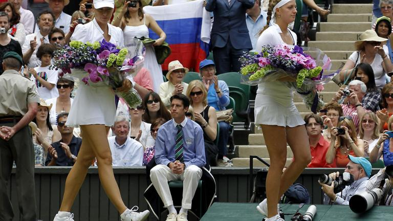 Trading rackets for bouquets
