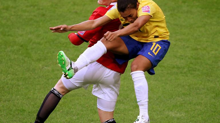 Group D: Brazil 3, Norway 0
