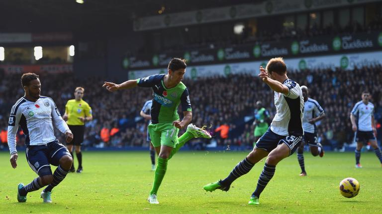 Newcastle United 2, West Bromwich Albion 0