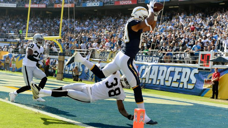 Chargers 13, Raiders 6