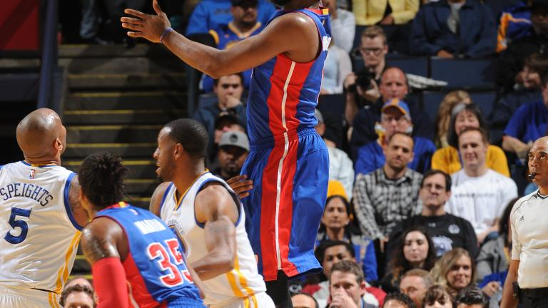Drummond grabs 27 rebounds as Pistons fall to Warriors