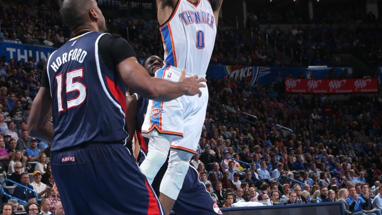 Another triple-double for Russell Westbrook in Thunder's win over Hawks