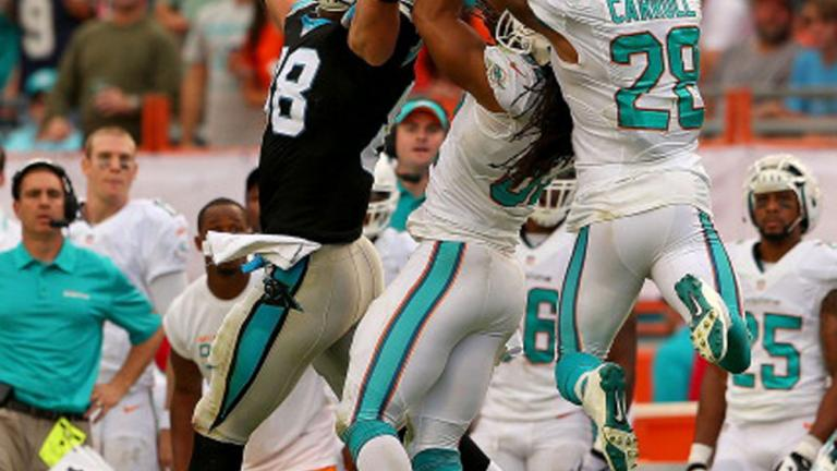 Panthers 20, Dolphins 16