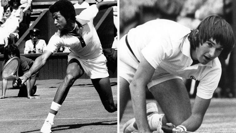 1975: Arthur Ashe def. Jimmy Connors 6-1, 6-1, 5-7, 6-4